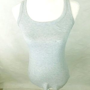 Soprano Gray Tank Top Size Large